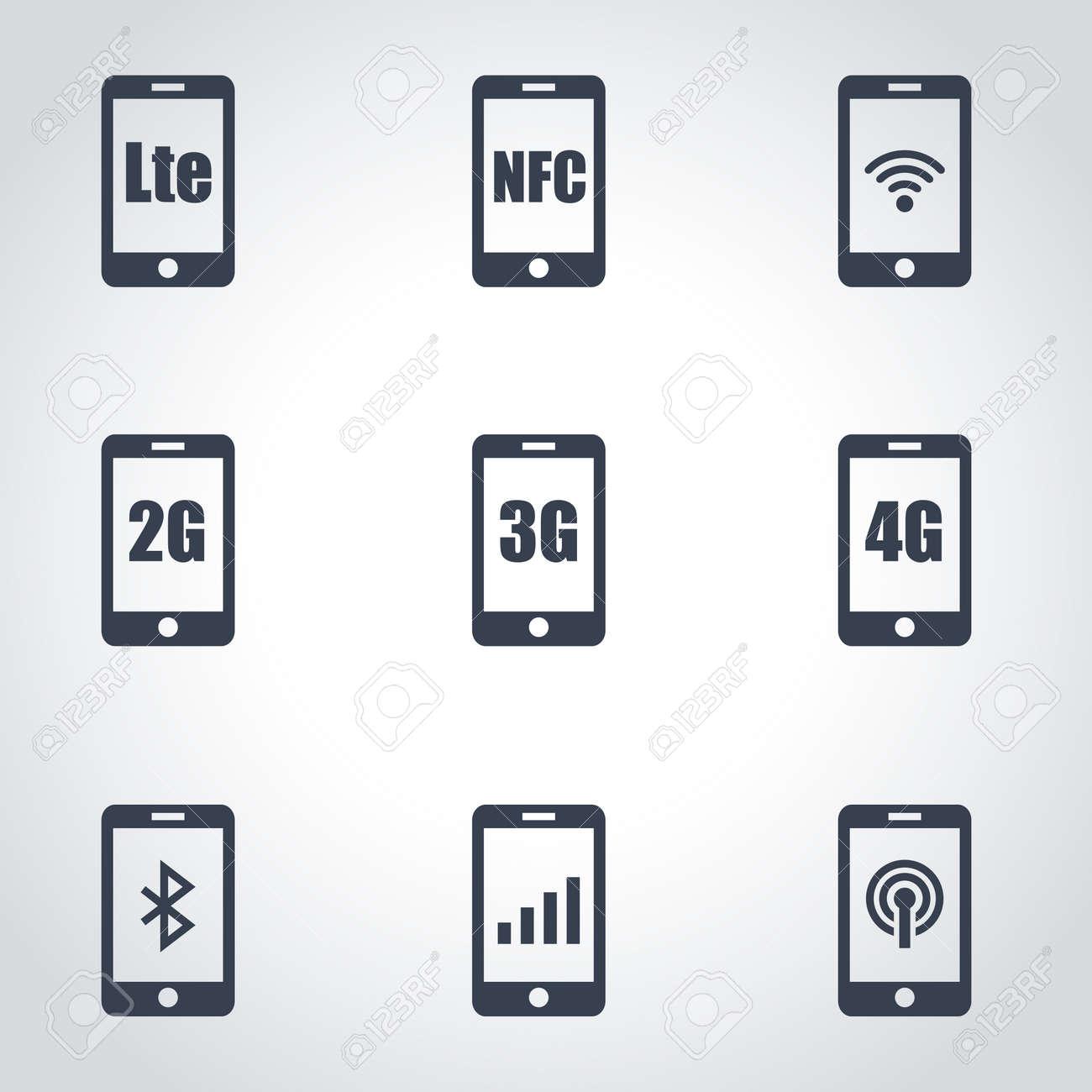 3G, 4G And LTE Technology. Wireless Communication Technology ...