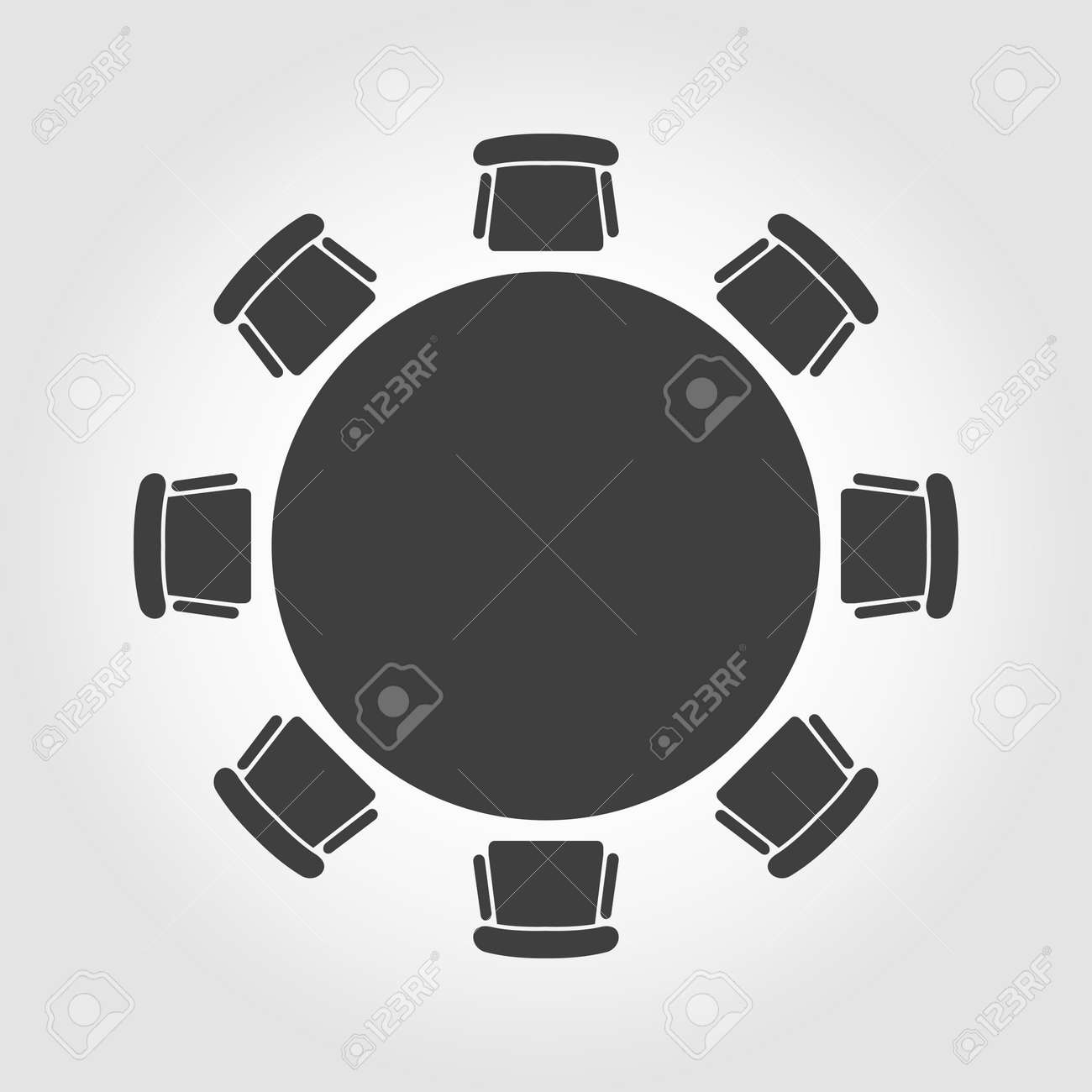 Round table meeting icon - Round Table Vector Round Table Icon Round Table Icon Object Round Table Icon