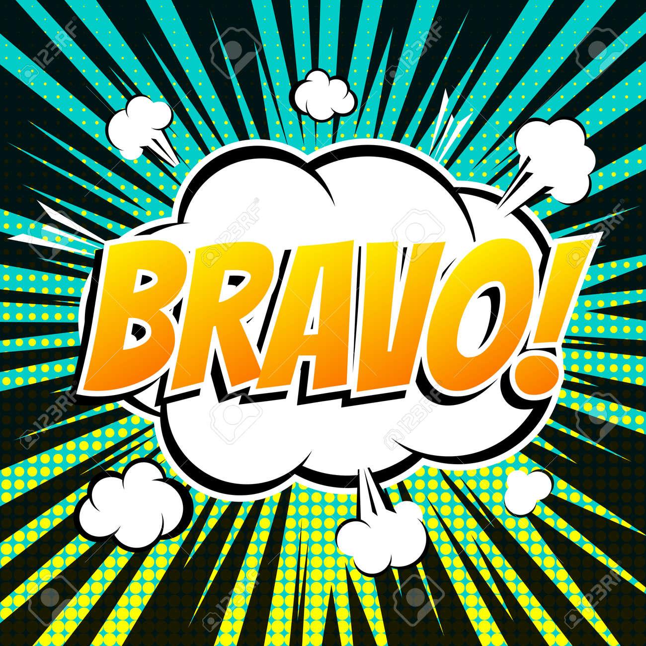 8edea59a43 Bravo Comic Book Bubble Text Retro Style Royalty Free Cliparts ...