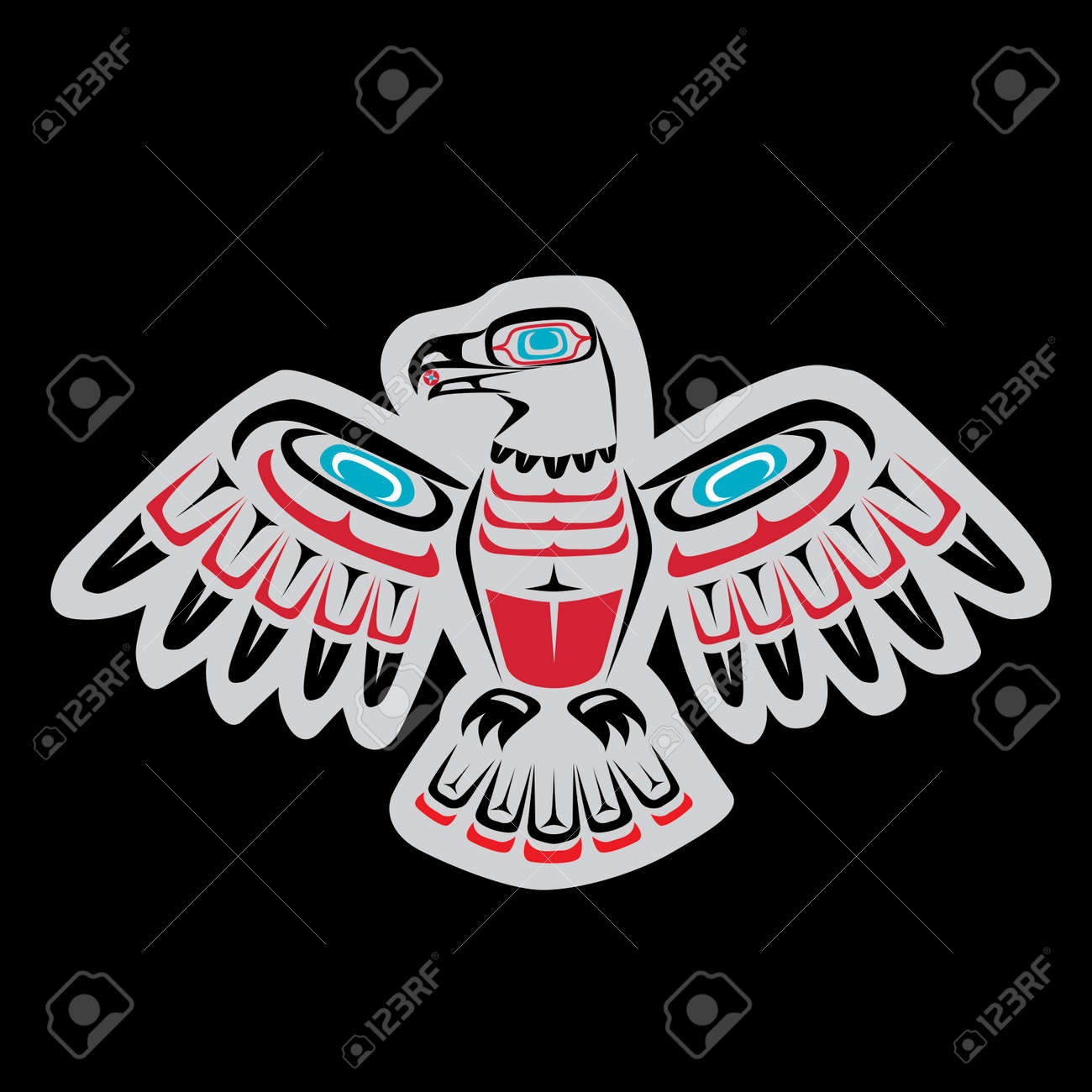 Native american first nations eagle art featuring coastal salish native american first nations eagle art featuring coastal salish colors and forms stock vector biocorpaavc Gallery
