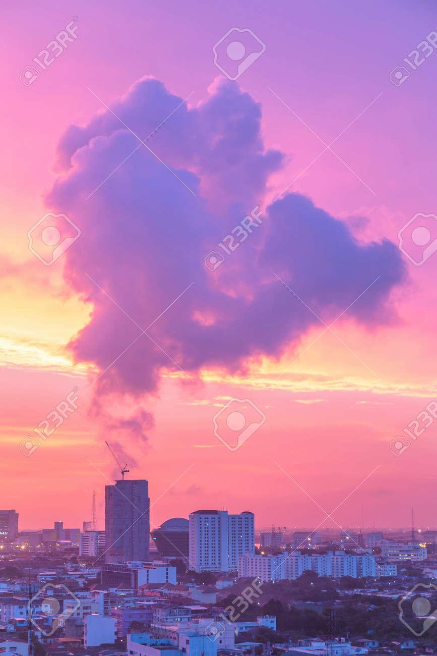 Floating In Twilight Winter Haze Like >> Strange Smoke Floating Over Building In Bangkok During Twilight