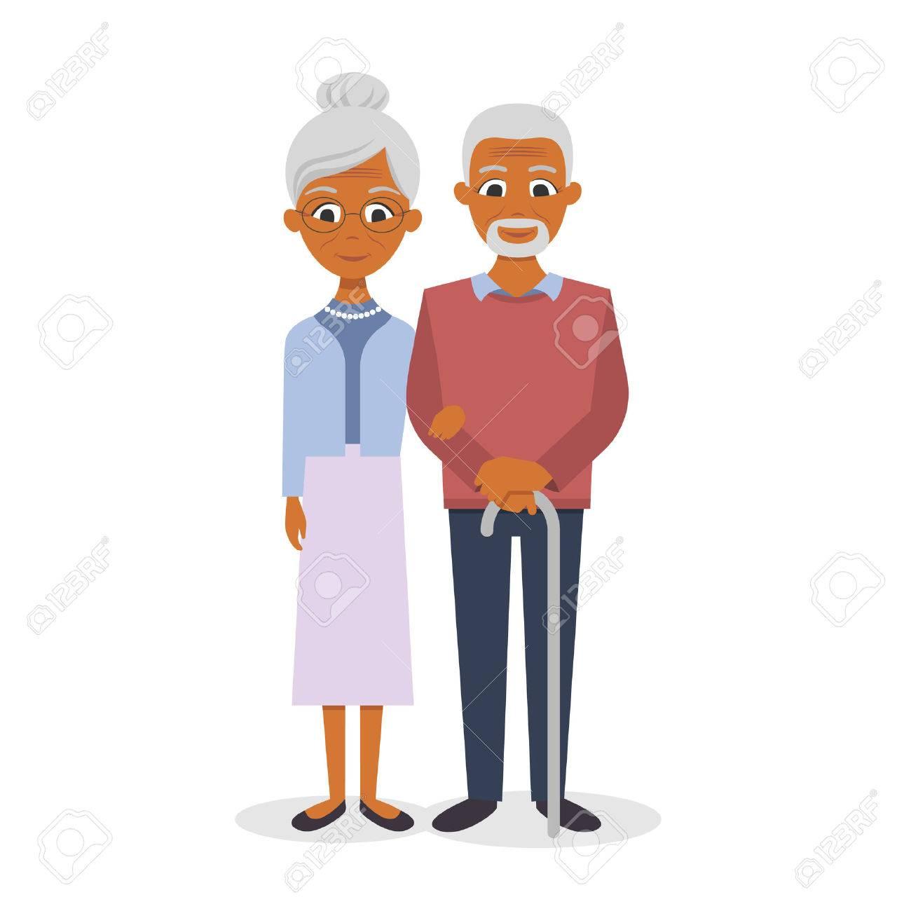 Vector illustration of happy smiling senior couple - 51420529