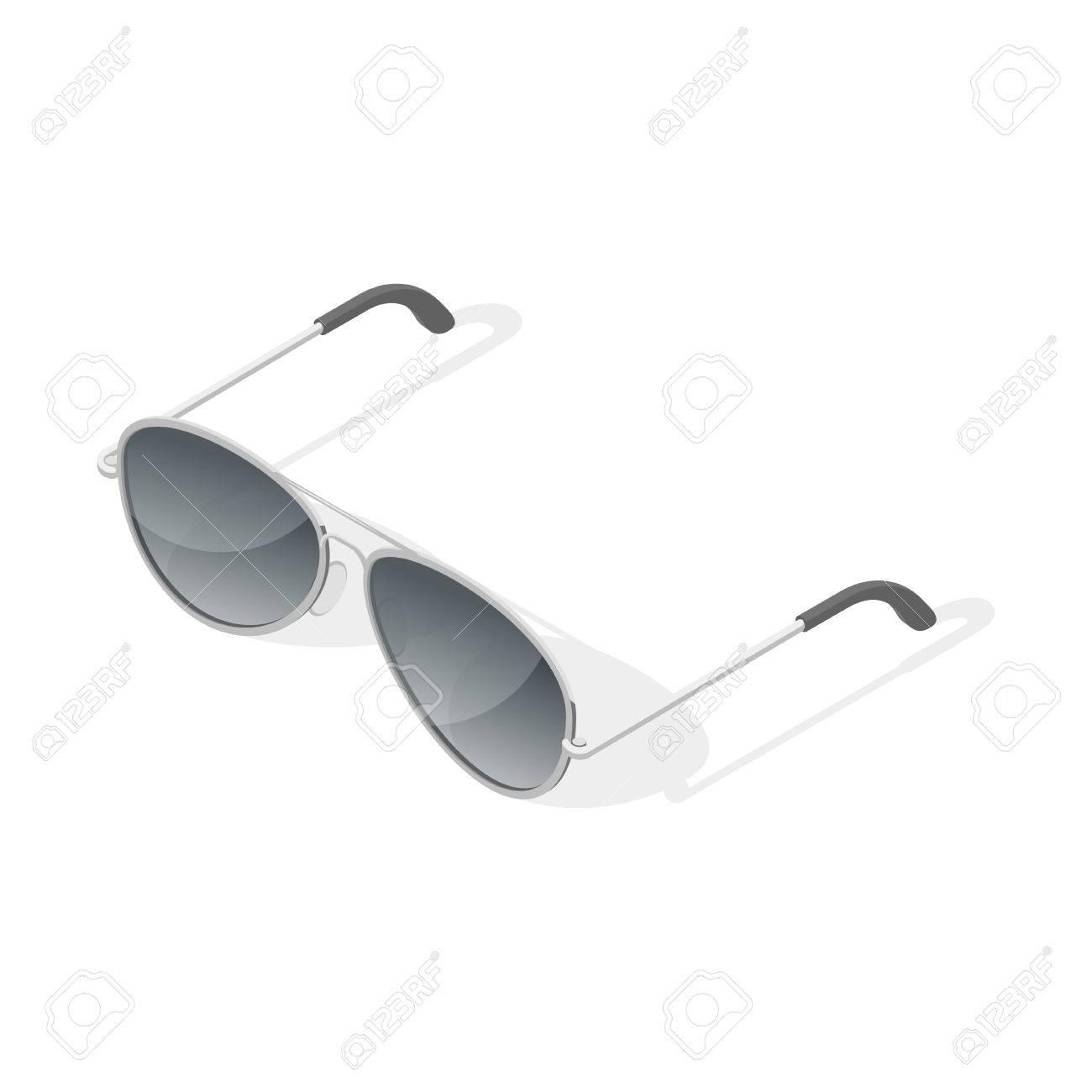 Banque d images - Illustration vectorielle isométrique 3d de lunettes  aviateur. Isolé sur fond blanc 2dbc26725066