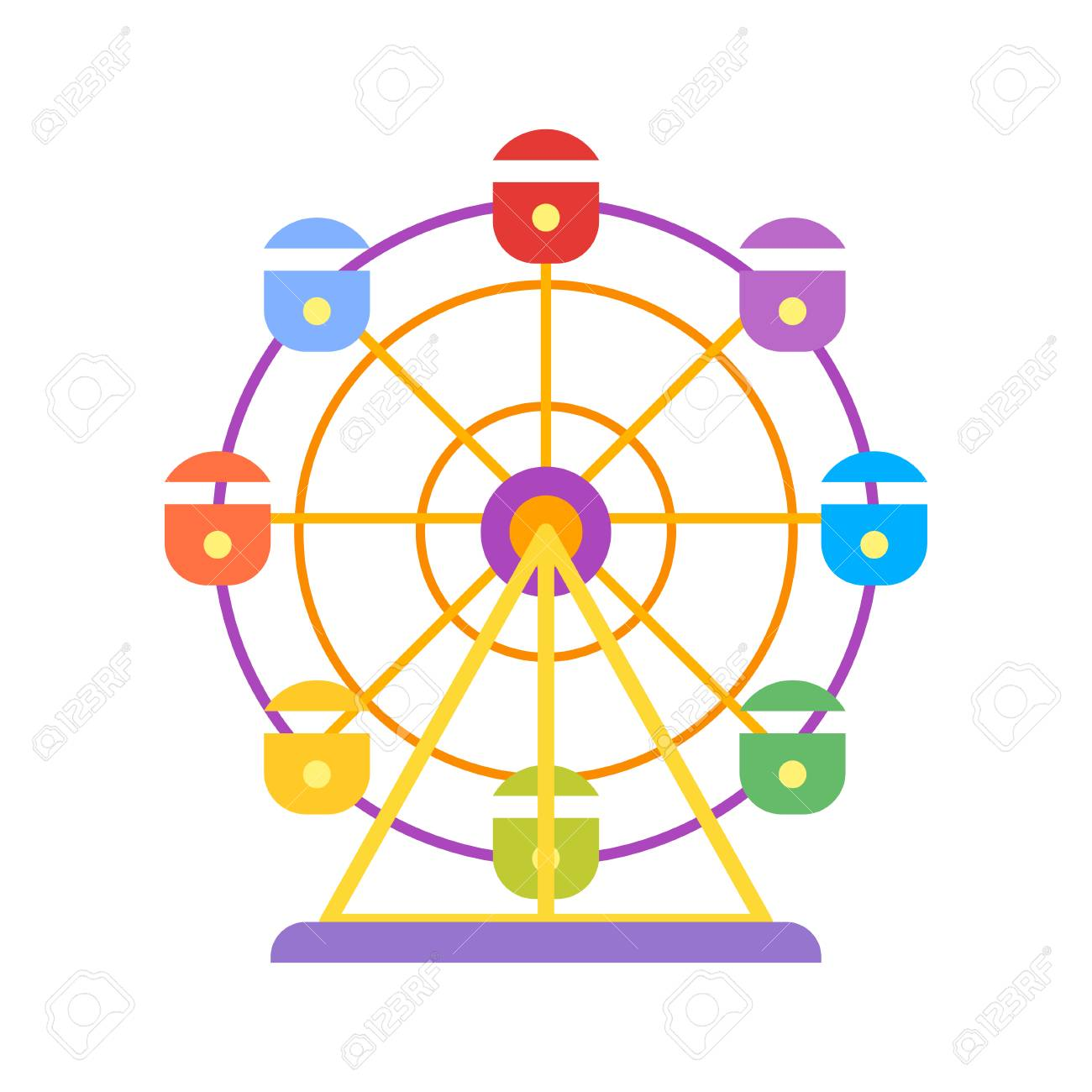 Vector flat style illustration of ferris wheel isolated on white vector flat style illustration of ferris wheel isolated on white background icon for web biocorpaavc