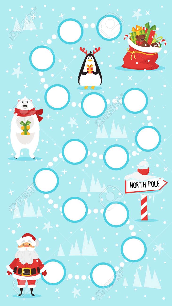 Ilustracion De Estilo De Dibujos Animados De Ninos Navidad Y Ano