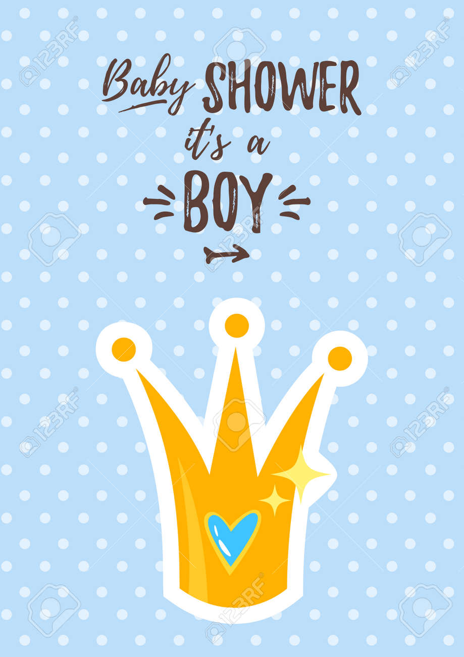 photo regarding Free Printable Prince Baby Shower Invitations referred to as Vector cartoon design example of Youngster shower invitation