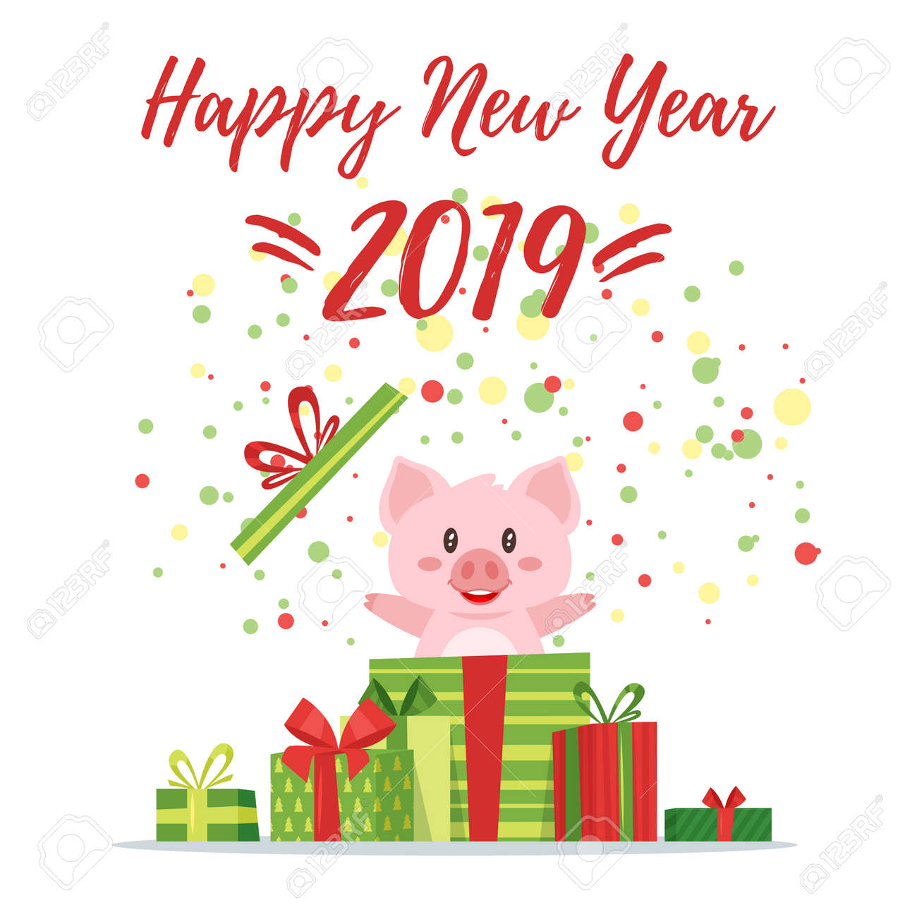 New years eve cartoon images 2019 free