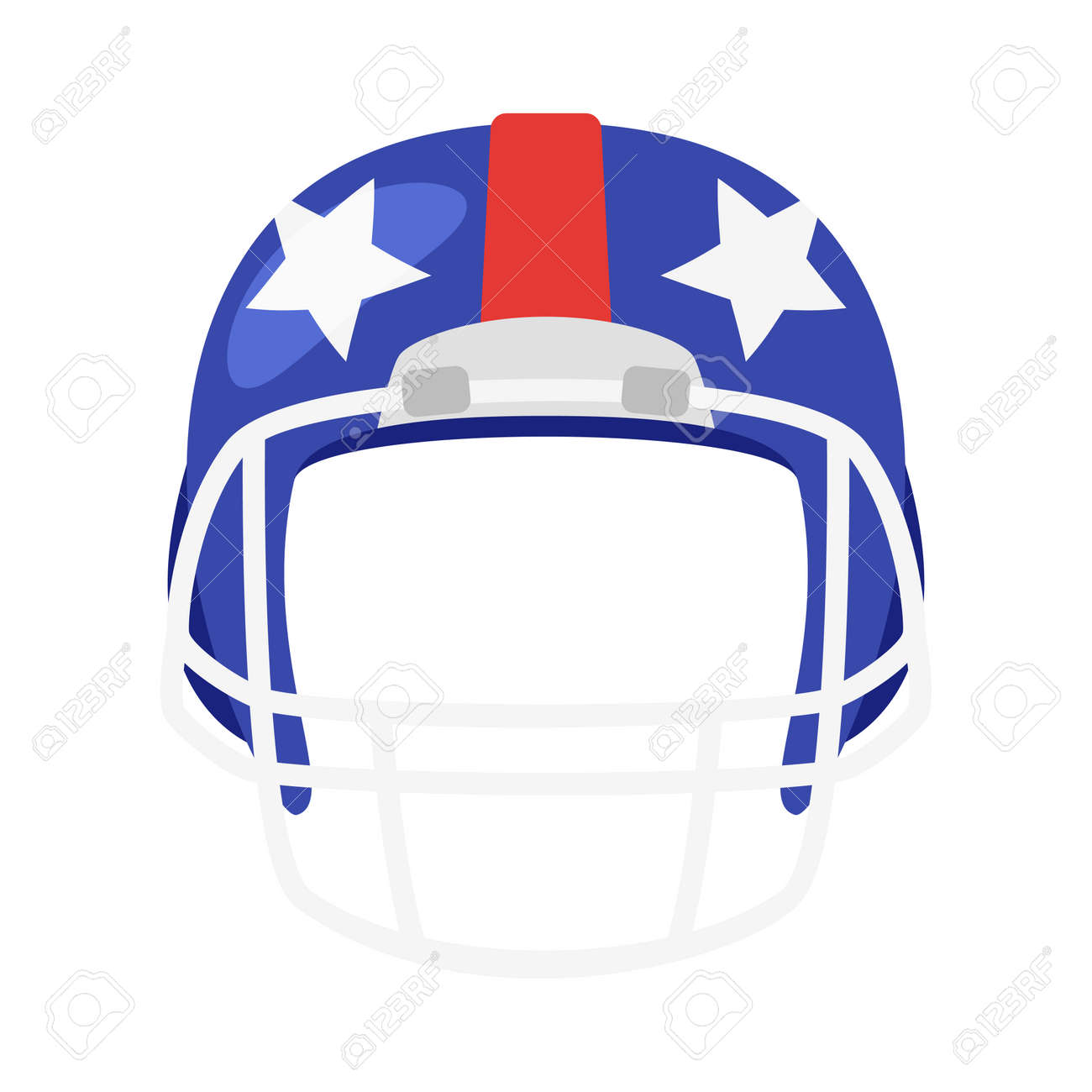 a3628aa6401b Vector - Vector cartoon style American football helmet face element or  carnival mask. Decoration item for your selfie photo and video chat filter.