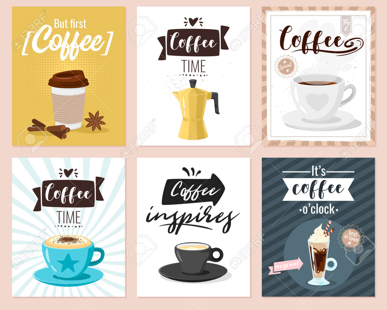 Coffee Shop Poster Template For Cafe Wall Design Print Lettering Royalty Free Cliparts Vectors And Stock Illustration Image 113507714