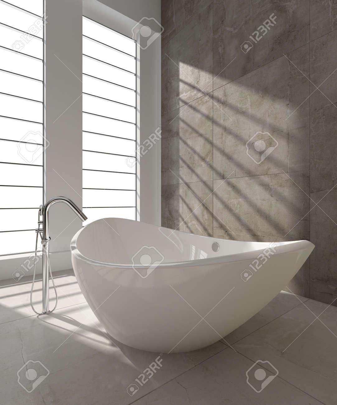 f643c3131f vasca da bagno moderno un rendering d di vasca da bagno moderno foto  royalty free with vasche da bagno moderne.