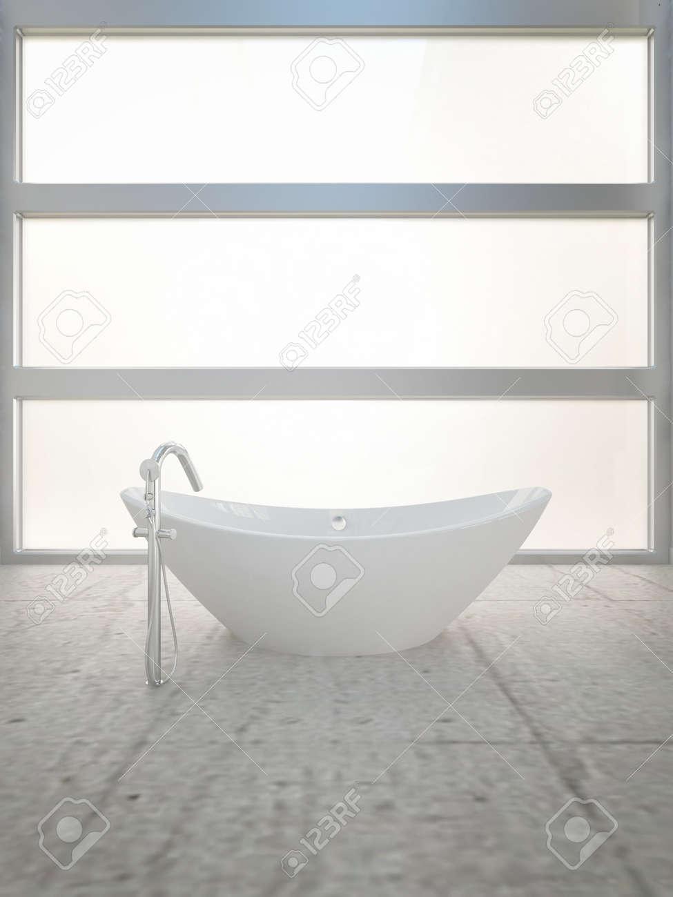 A 3d rendering of modern bathtub Stock Photo - 19459746