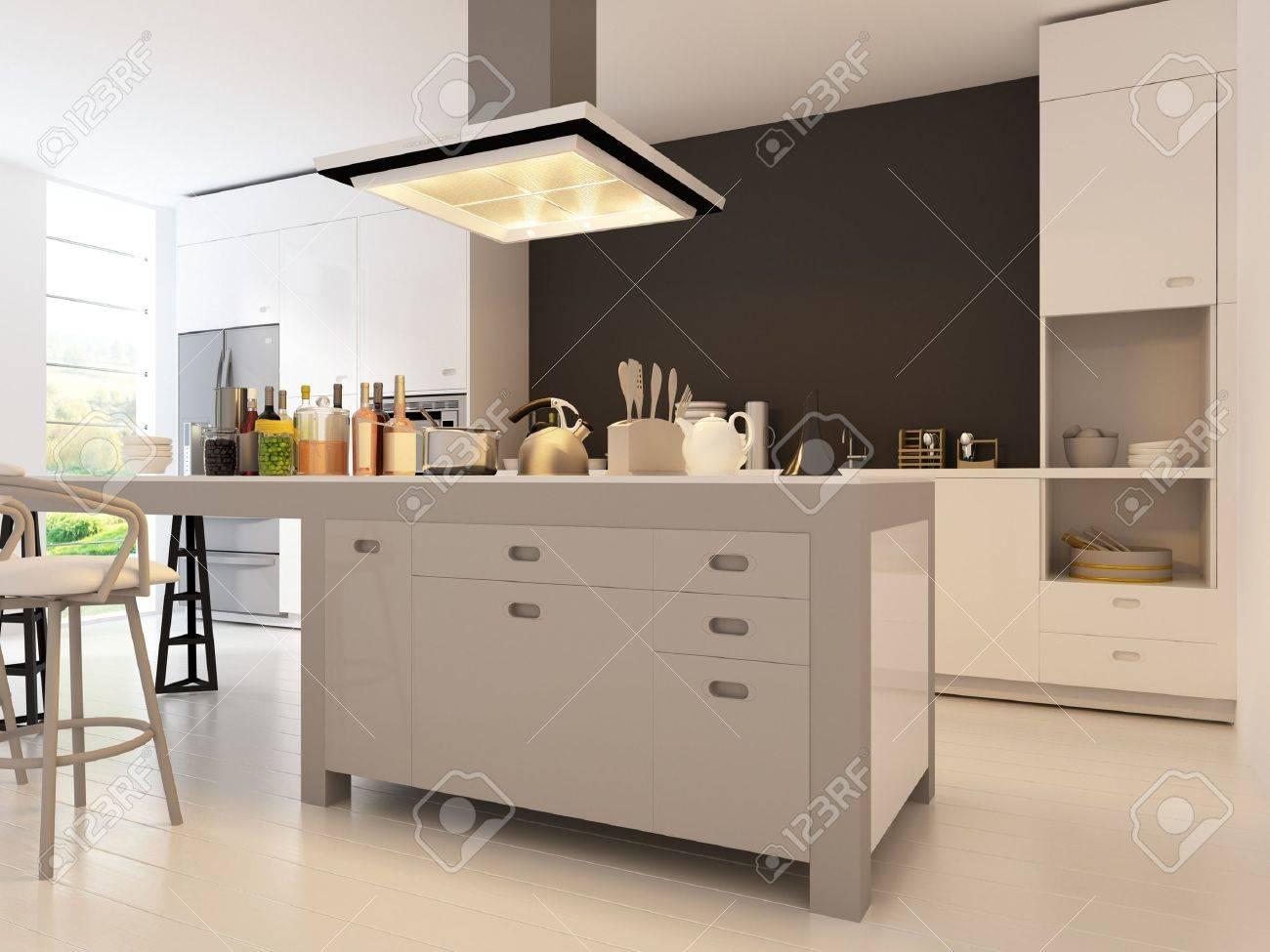 Modern Design Kitchen Interior Stock Photo - 19532895