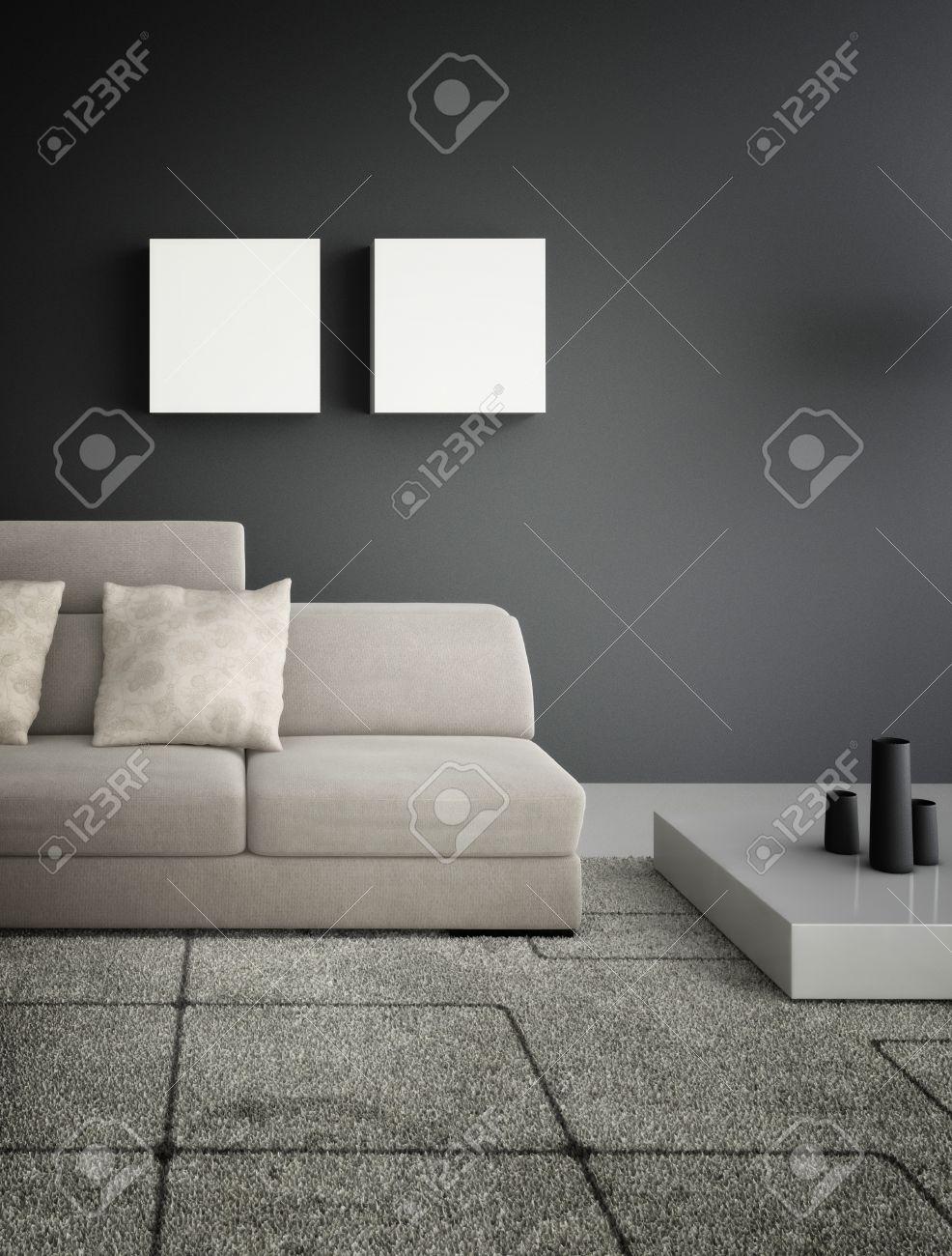 Modern design living room   Interior Architecture Stock Photo - 19533022