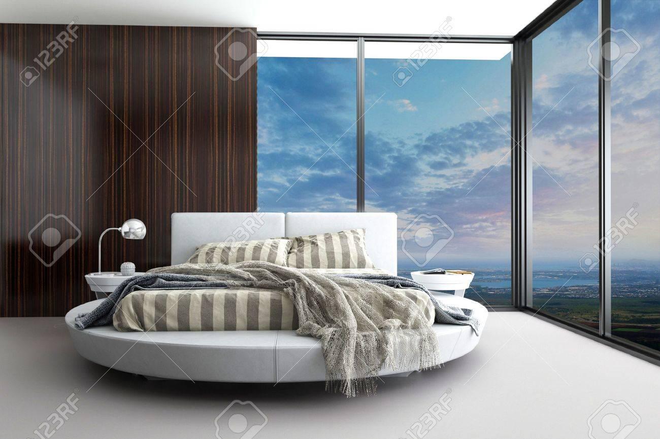Minimalista Dormitorio Diseno Moderno Con Vista Aerea Fotos - Dormitorio-diseo-moderno