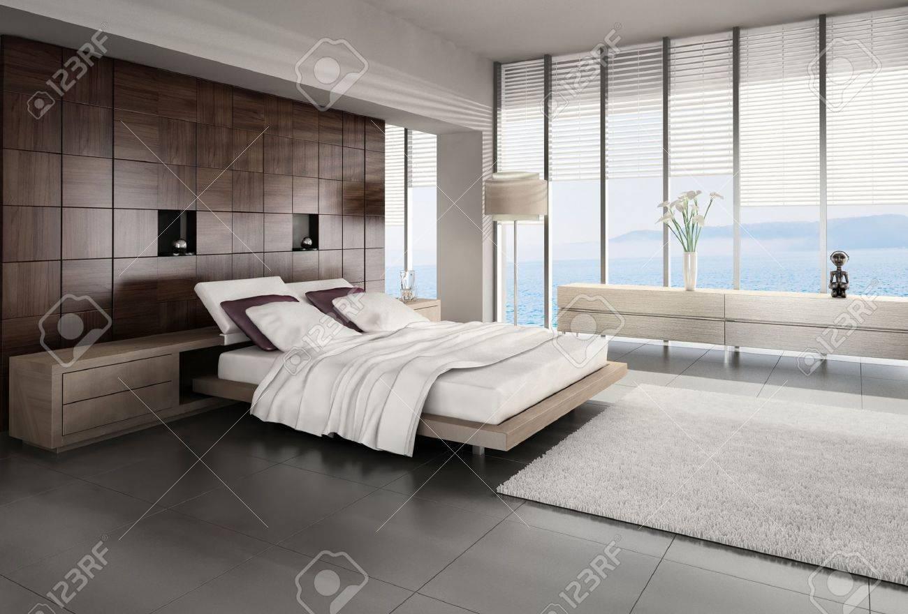 Modern design slaapkamer interieur royalty vrije foto, plaatjes ...