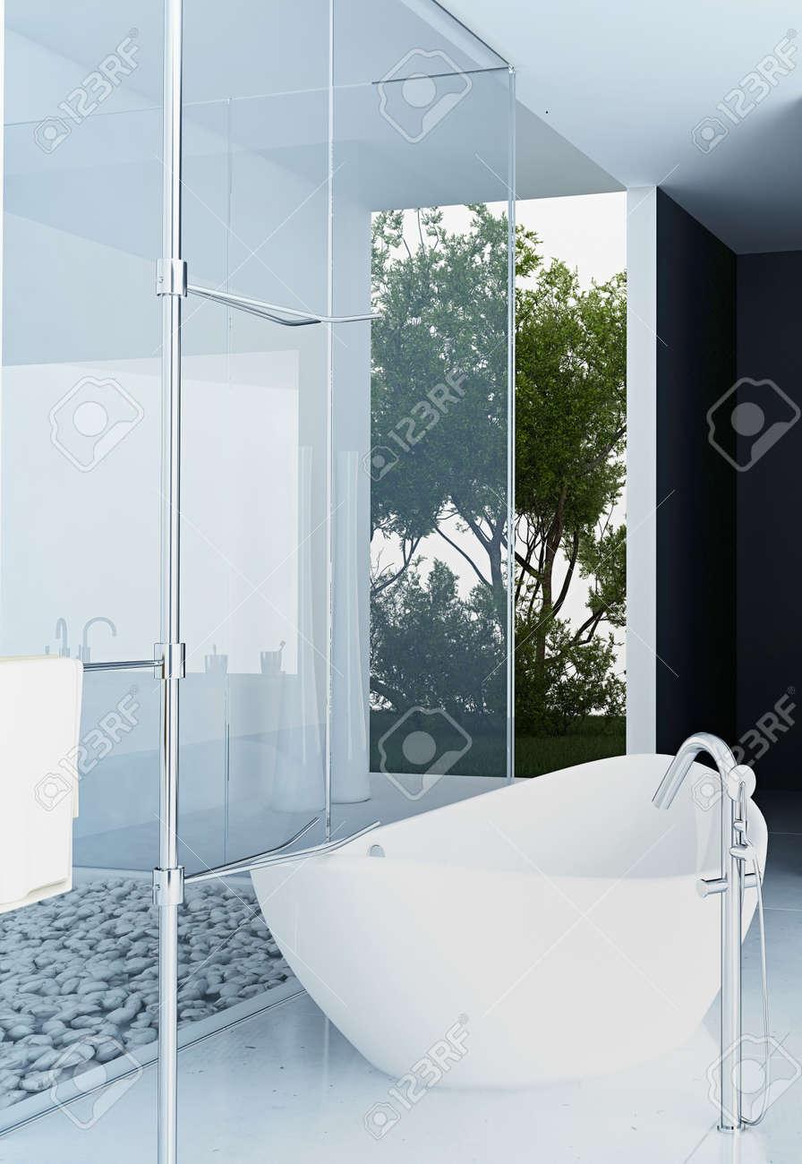 Modern design bathroom interior Stock Photo - 20217869