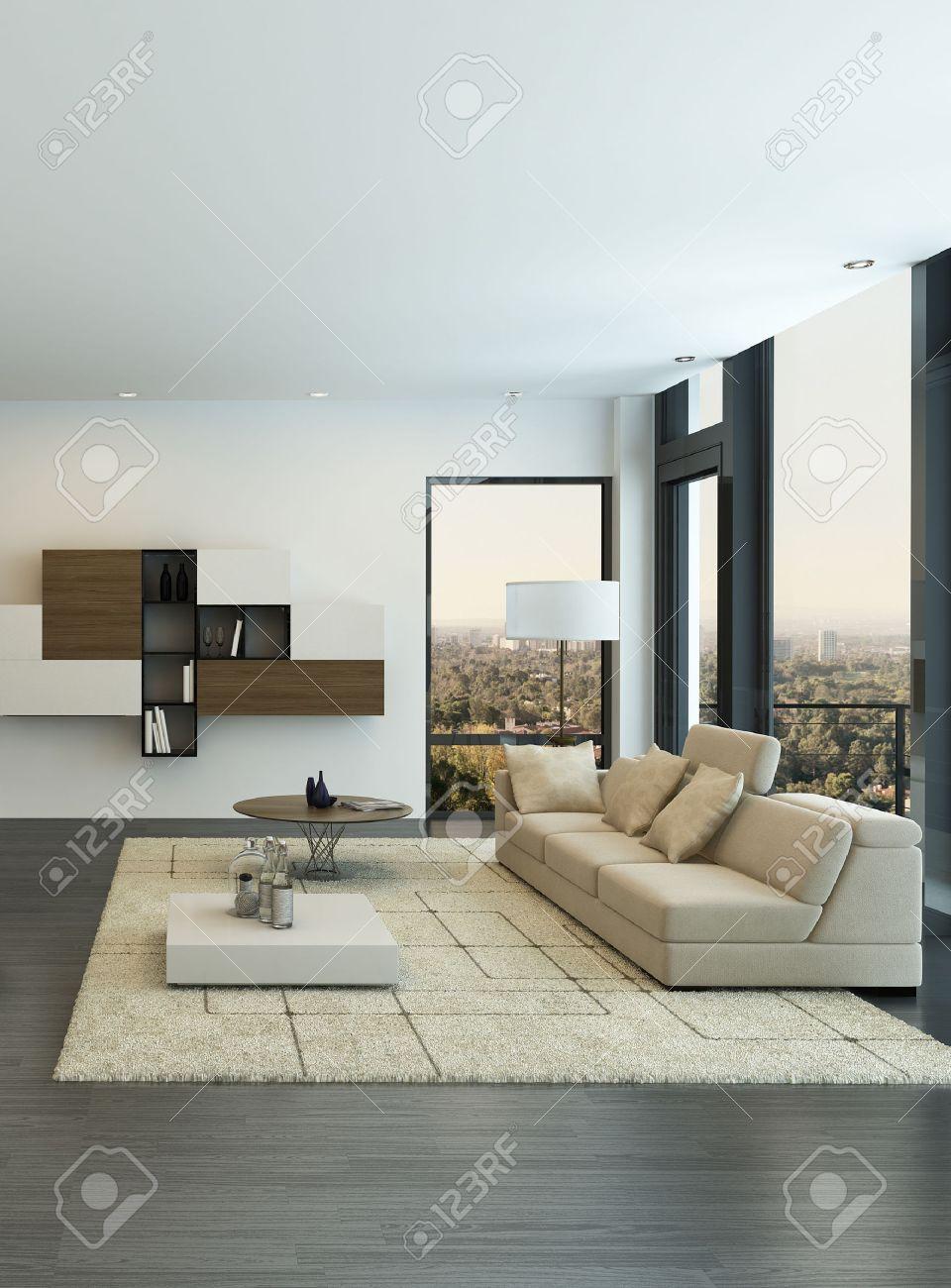 Interior Moderno De La Sala De Estar Con Muebles De Dise O Fotos  # Muebles Sala De Estar