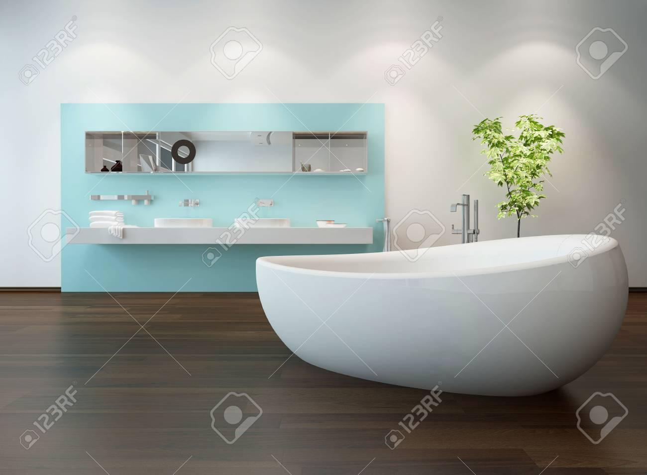 Vasca Bagno Freestanding : Interno bagno di lusso con una bella vasca da bagno freestanding