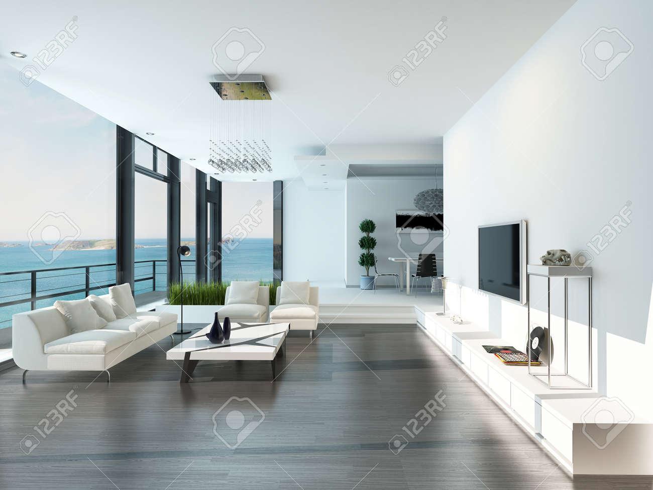 Moderne luxe woonkamer interieur royalty vrije foto, plaatjes ...