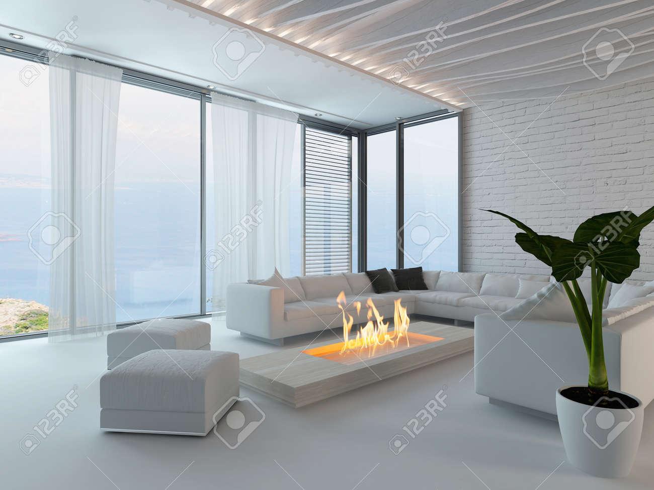 arredare soggiorno con camino moderno: divisorio cucina soggiorno ... - Salone Moderno Con Camino