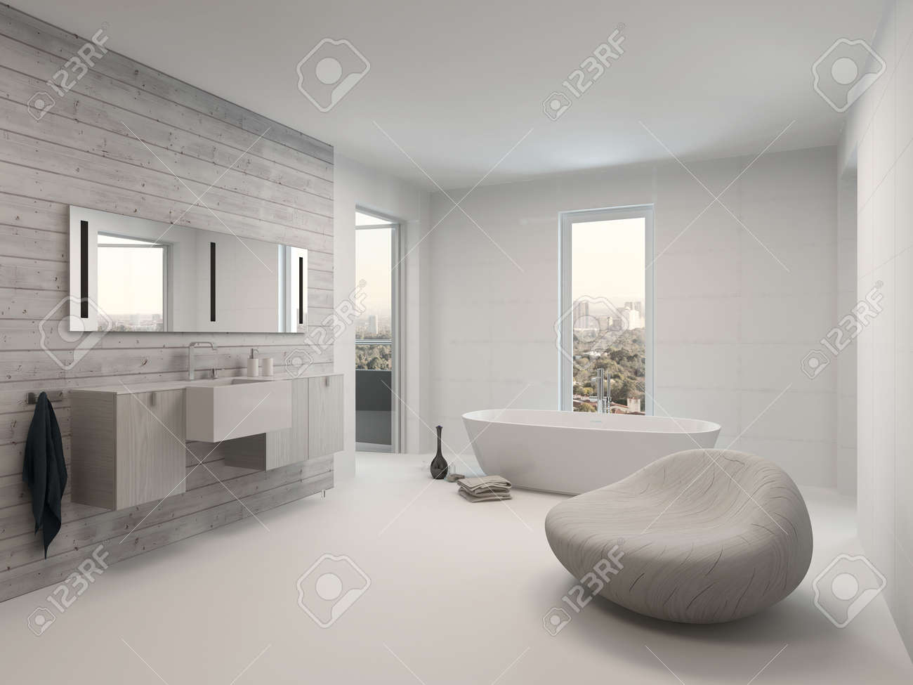 Pure White Modern Luxury Bathroom Interior Stock Photo Picture And Royalty Free Image Image 28772347