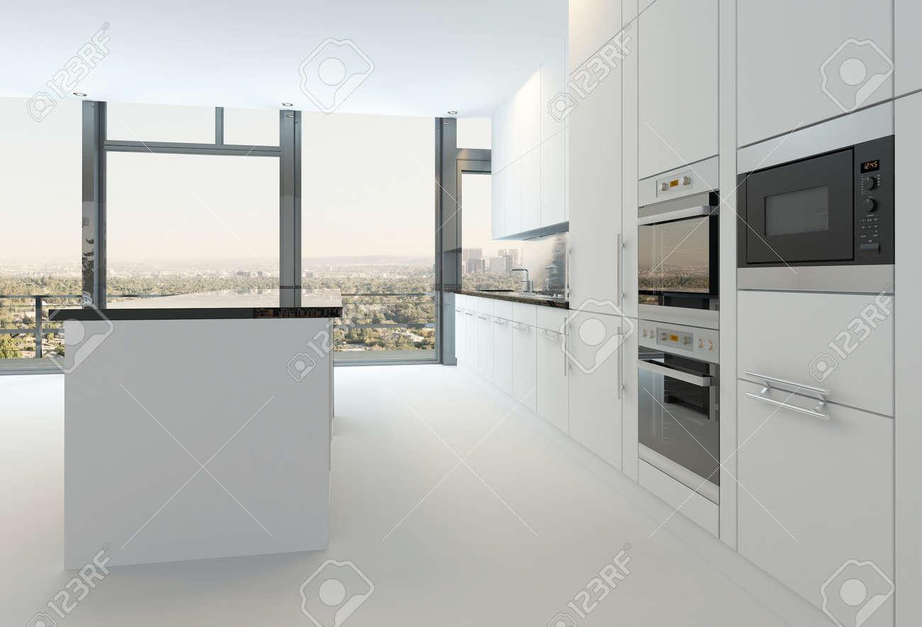 Moderne Weiße Küche Interieur Lizenzfreie Fotos, Bilder Und Stock ...