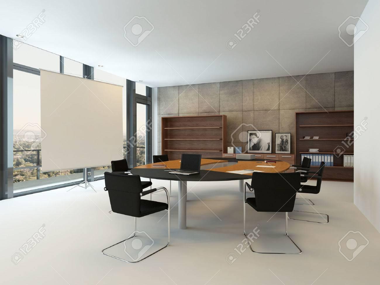 Interieur De Bureaux Moderne Avec Table De Conference Banque D