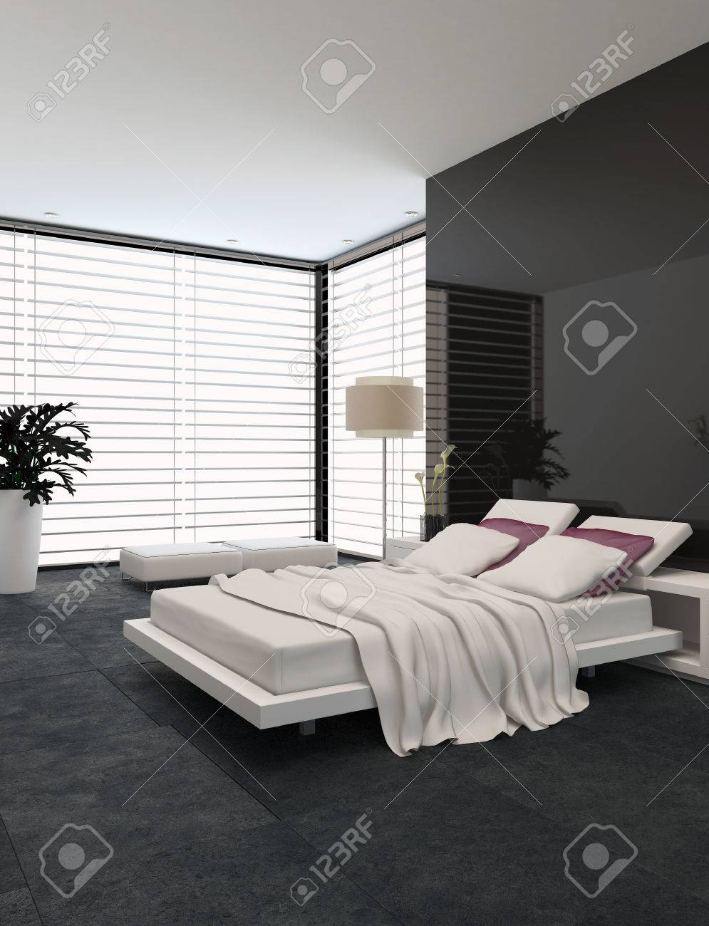 Spacious Modern Bedroom With An Adjustable Double Bed Large Stock