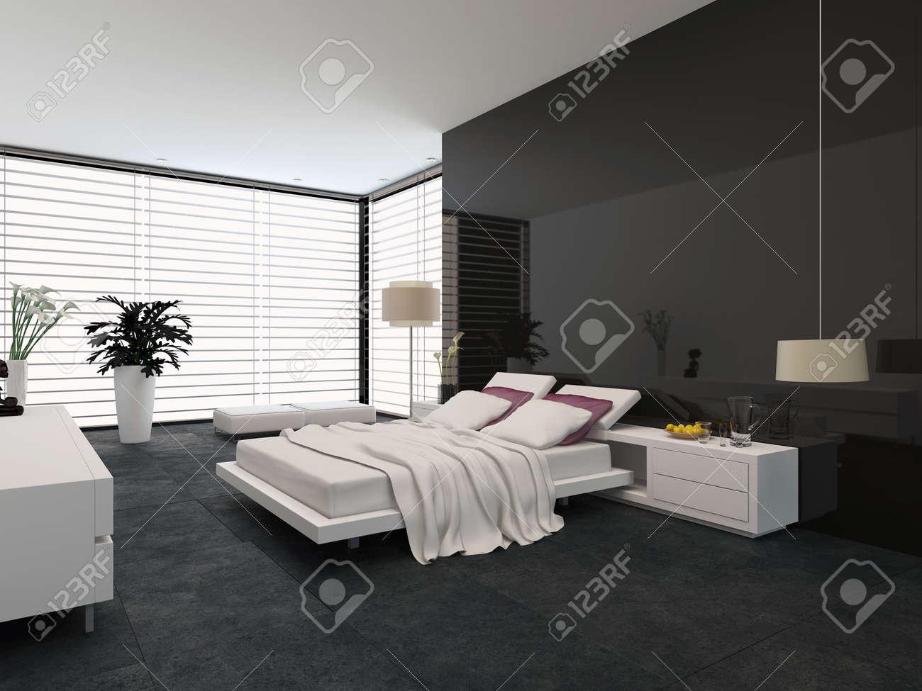 Geräumige, Moderne Zimmer Mit Einem Verstellbaren Doppelbett, Große ...