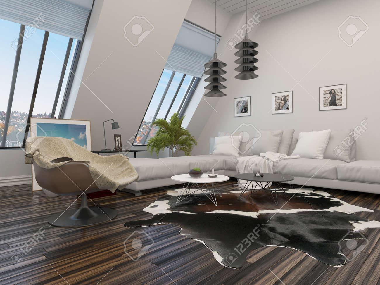 Salon Moderne Avec Une Suite Salon De L Unite D Angle Fauteuil