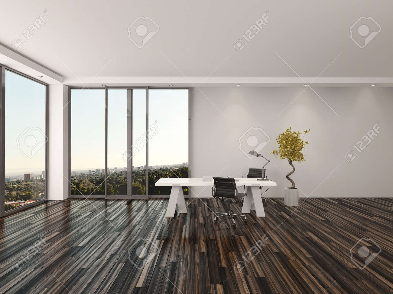 Modern Home Office Interior Design With Two Office Chairs On Stock Photo Picture And Royalty Free Image Image 30526379