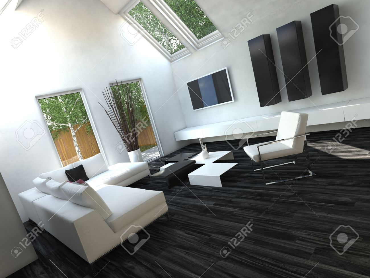 Soggiorno Bianco E Nero : Tende per soggiorno bianco e nero ...