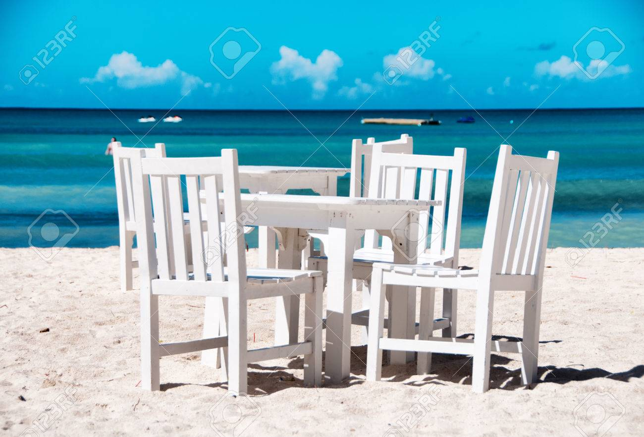tropical painted furniture.  Furniture Tropical Painted Furniture Idyllic Outdoor Dining On A Beach In  Aruba With Fresh White And Tropical Painted Furniture