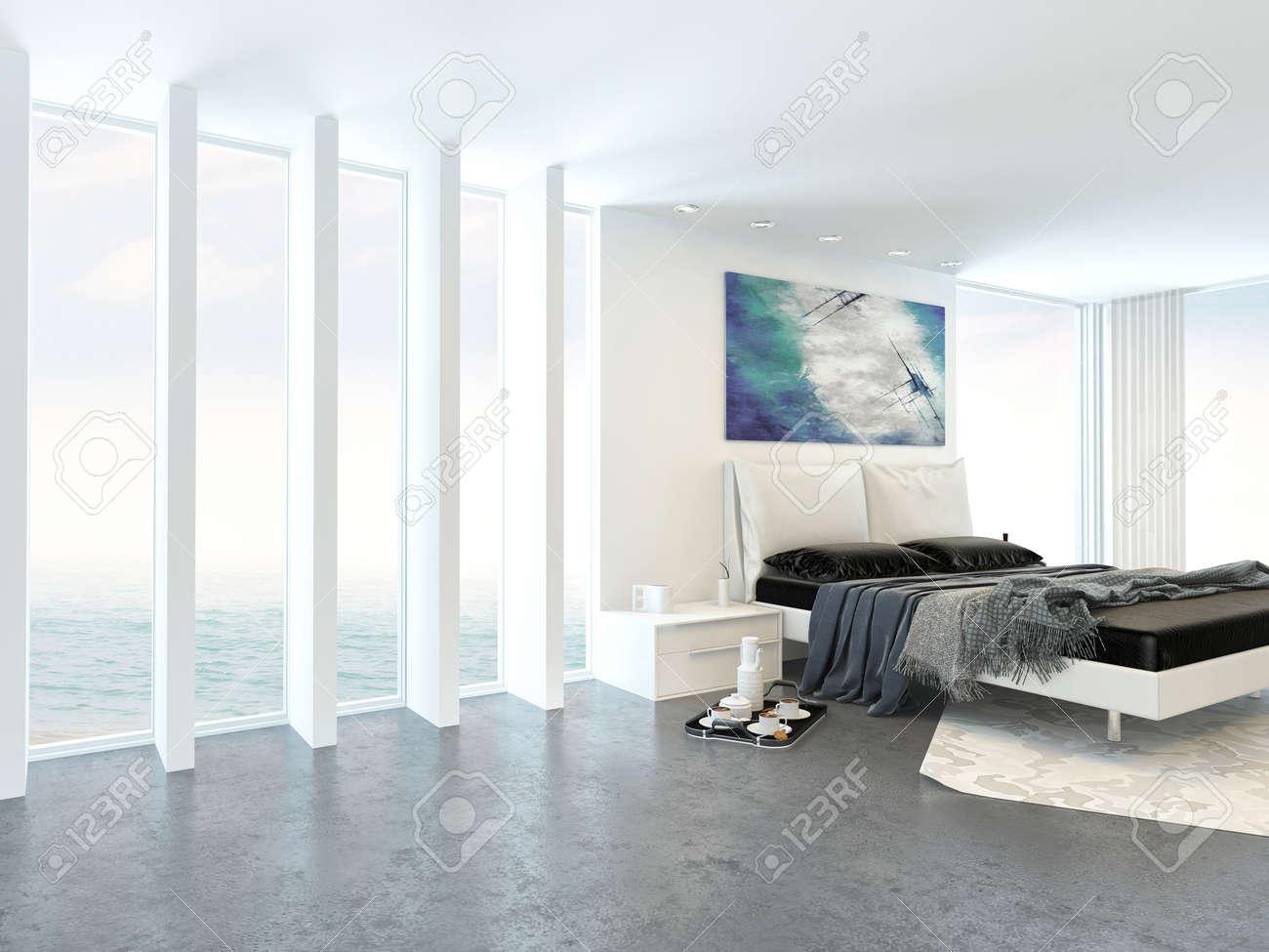 modern interior luminosa camera da letto luce con divano letto ... - Camera Da Letto Con Divano