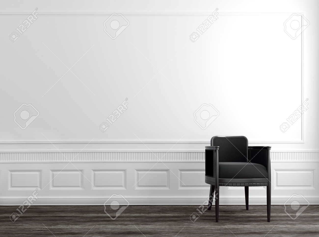 Pavimento Grigio Moderno : Moderno grigio sedia in casa dell alta società di lusso con pareti