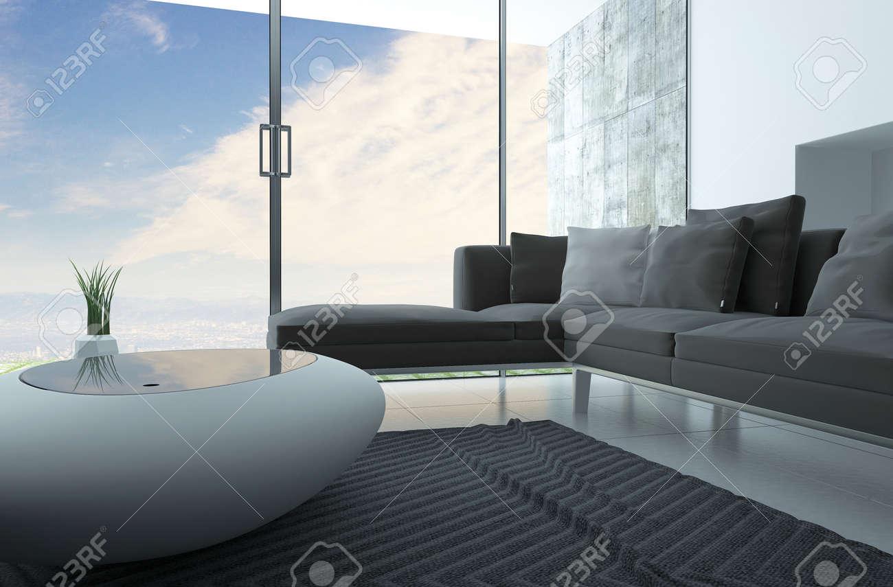 Salotto Moderno Grigio : Tavolino da salotto moderno in finitura grigio con serigrafia