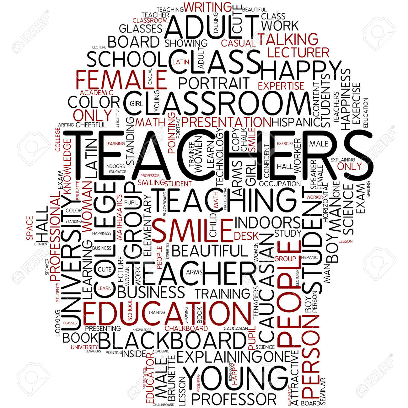 Word Cloud - Teachers Stock Photo, Picture And Royalty Free Image ...