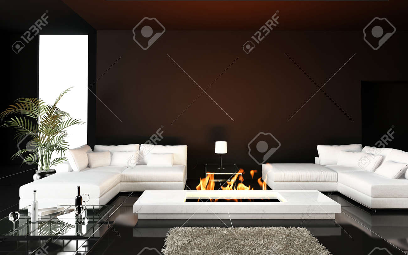 salotto moderno con camino ad angolo: caminetto nel salotto: modi ... - Immagini Soggiorno Moderno Con Camino 2
