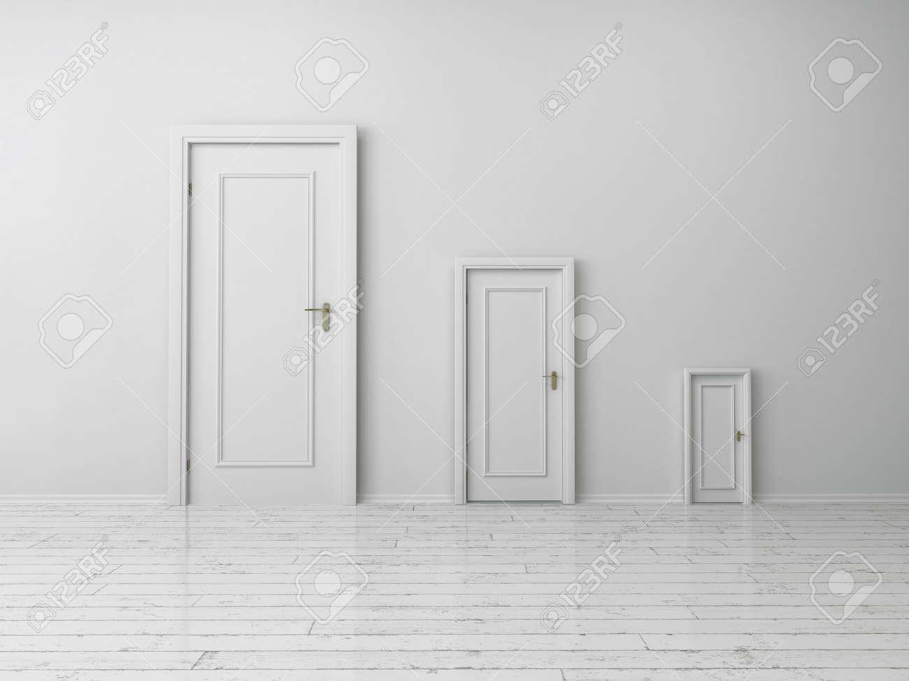 Beautiful Plain White Door Mdf Interior For Design