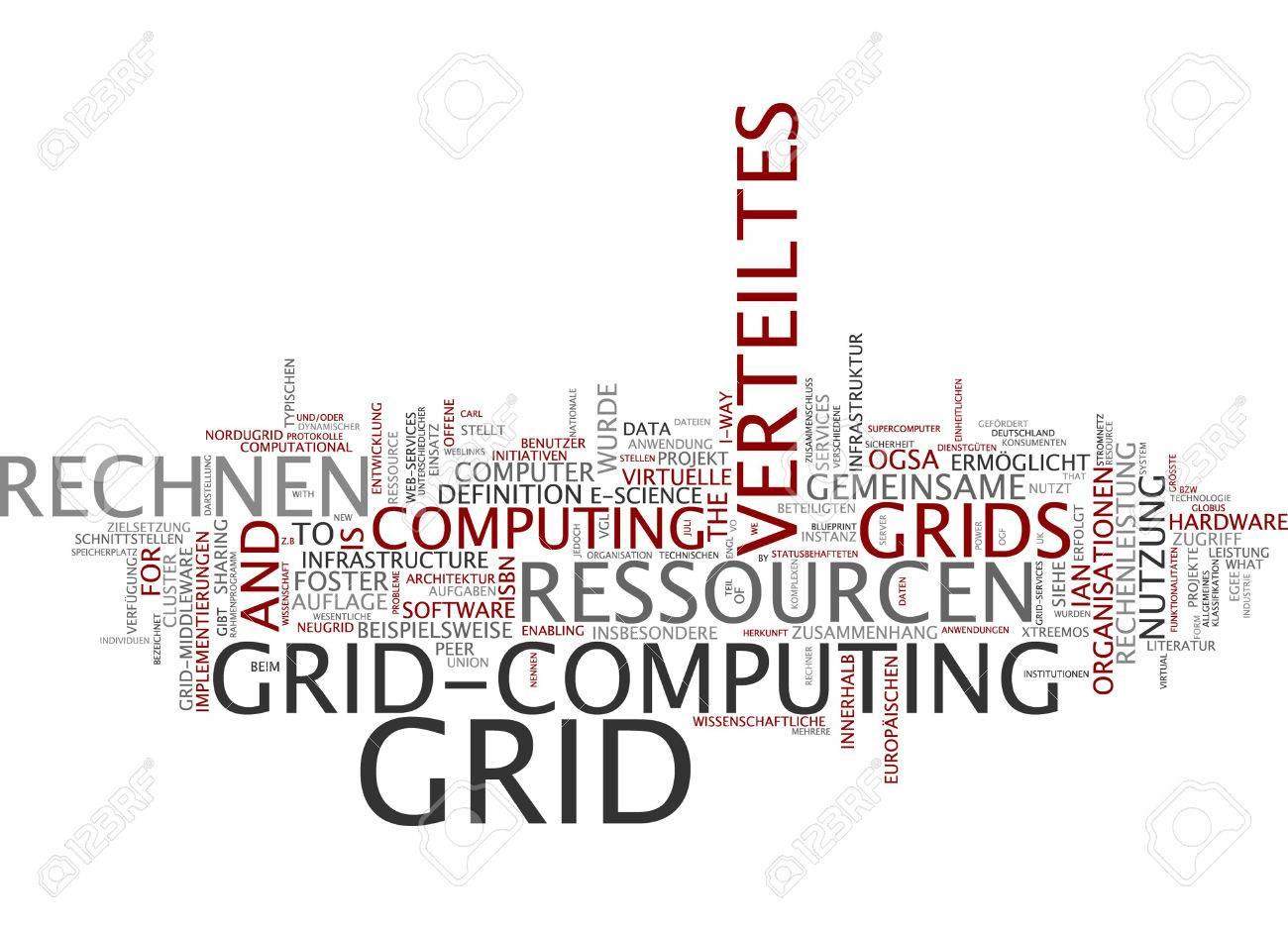 Word cloud of grid computing in german language stock photo picture stock photo word cloud of grid computing in german language malvernweather Images