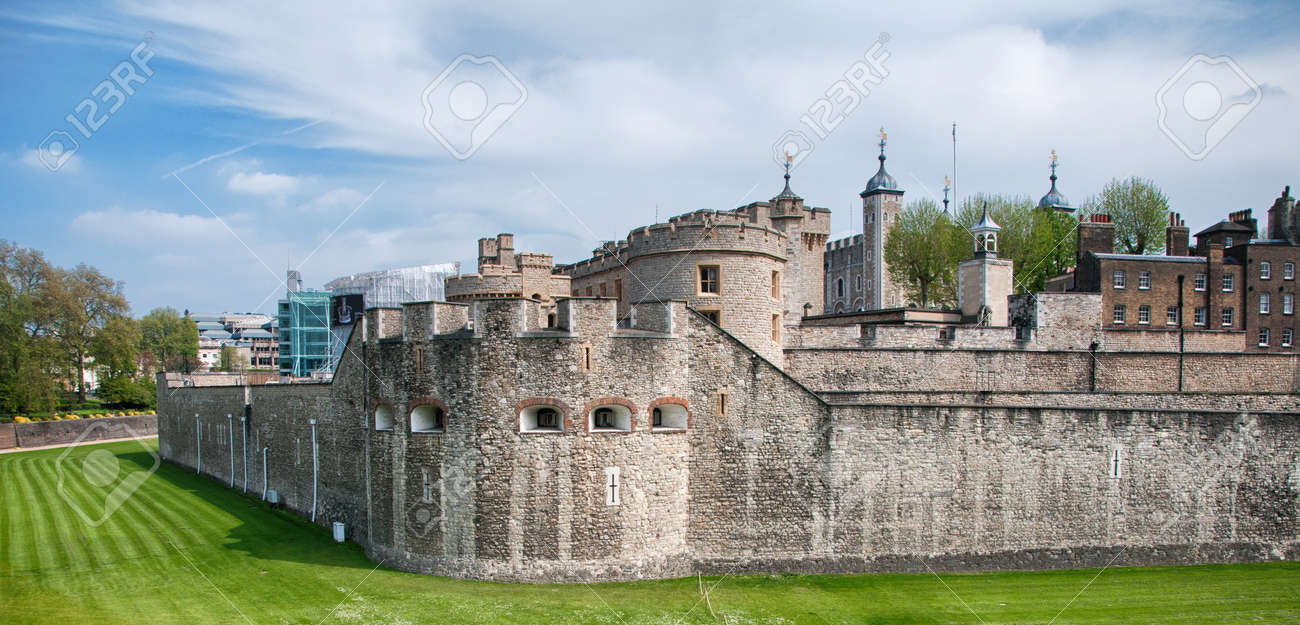 Bekannten Old Vintage Huge Tower Of London Gebaude Mit Aussenfassaden
