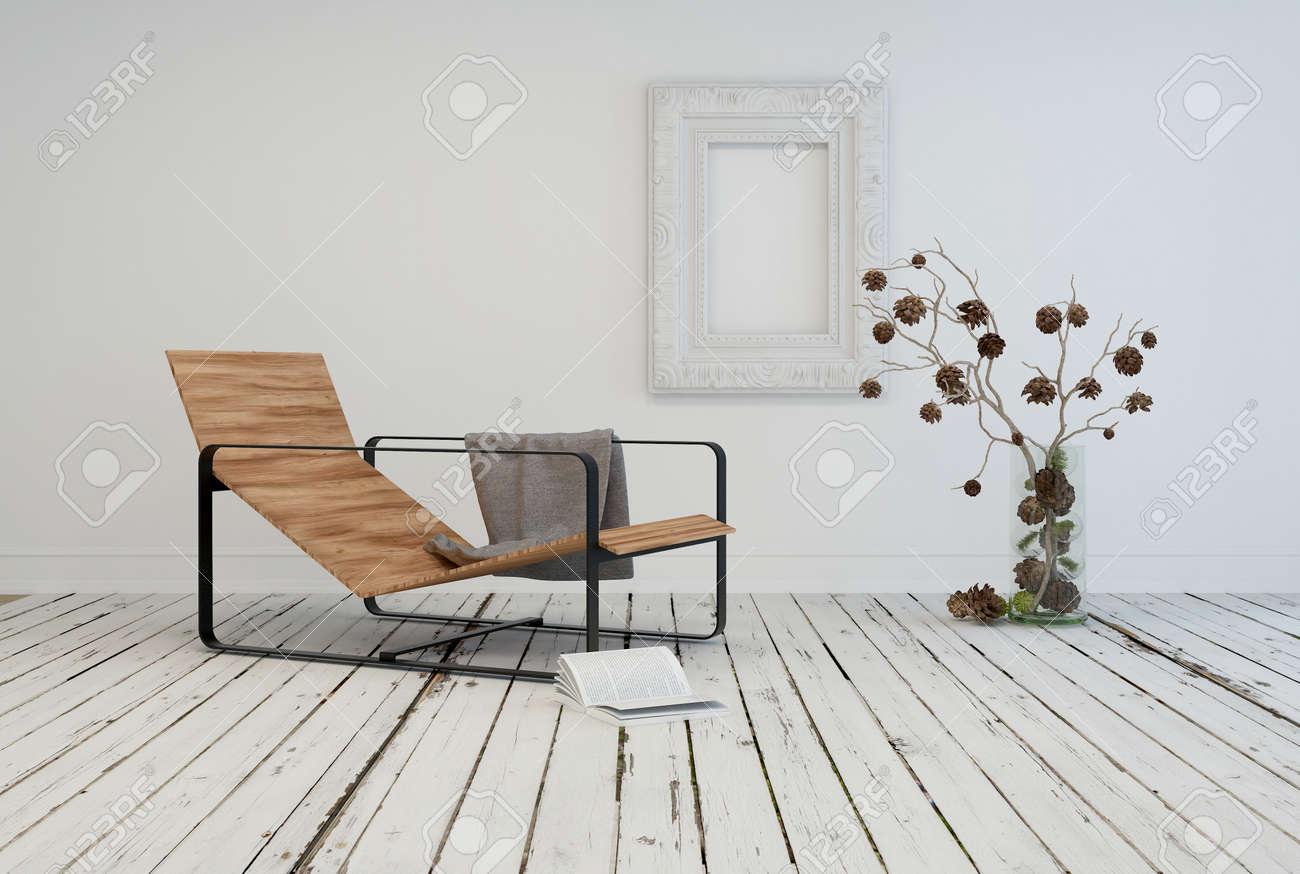 Minimalistischer wohnraum interior design mit einer