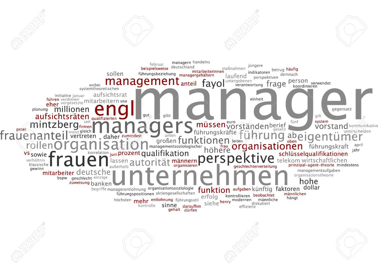 Word Cloud Of Manager In German Language Stock Photo, Picture And ...