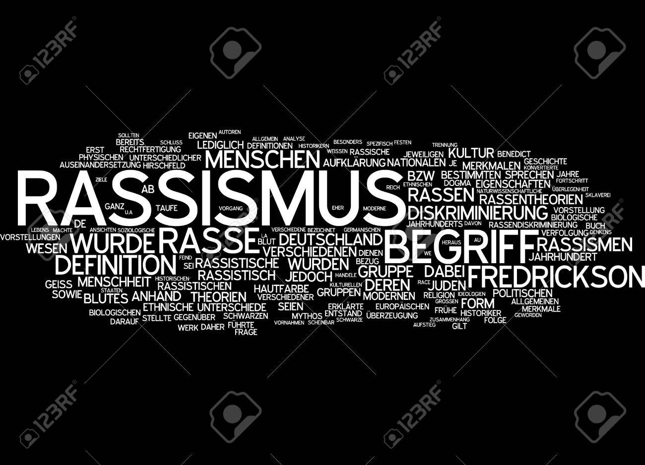 Word Cloud Of Racism In German Language Stock Photo, Picture And ...