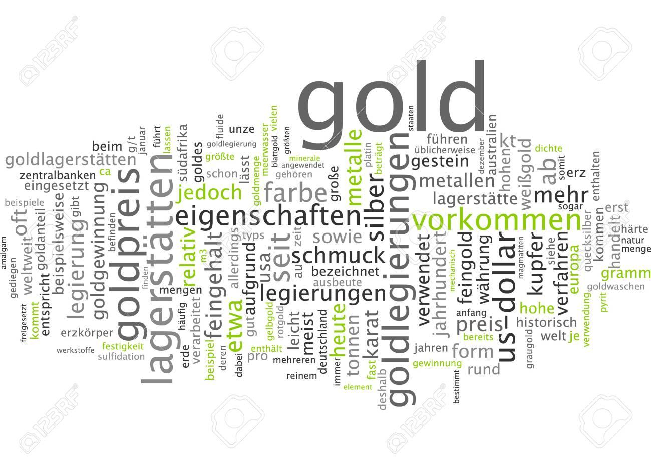 word cloud gold stock photo 34760464 - Legierung Beispiele