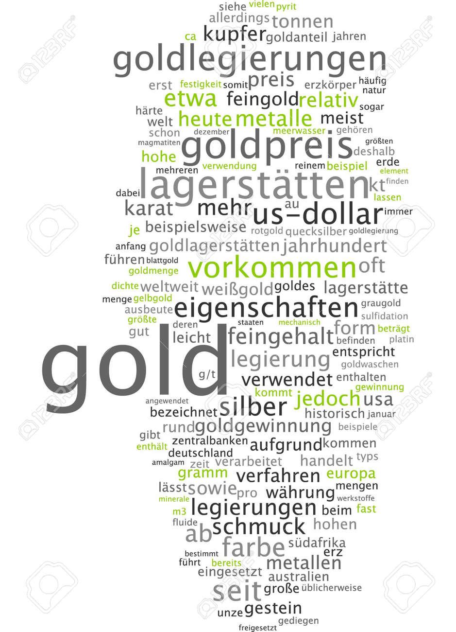 word cloud gold stock photo 34760466 - Legierung Beispiele