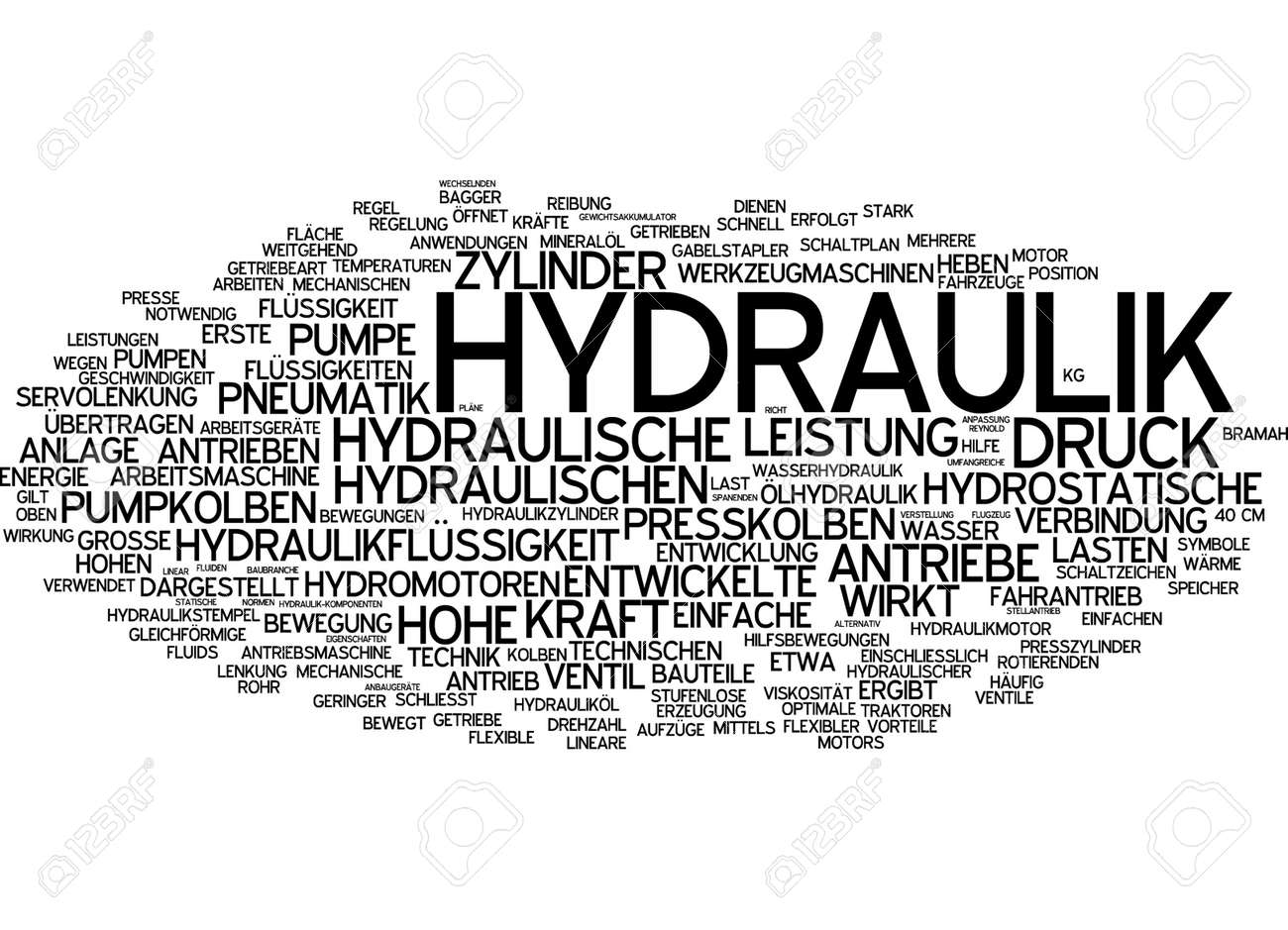 Word Cloud - Hydraulic Systems Stock Photo, Picture And Royalty Free ...