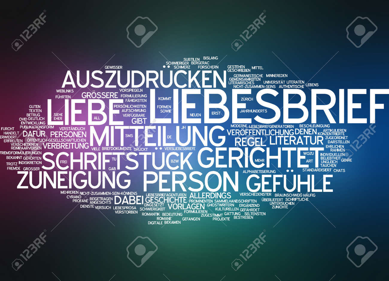 Word Cloud - Love Letter Stock Photo, Picture And Royalty Free Image ...