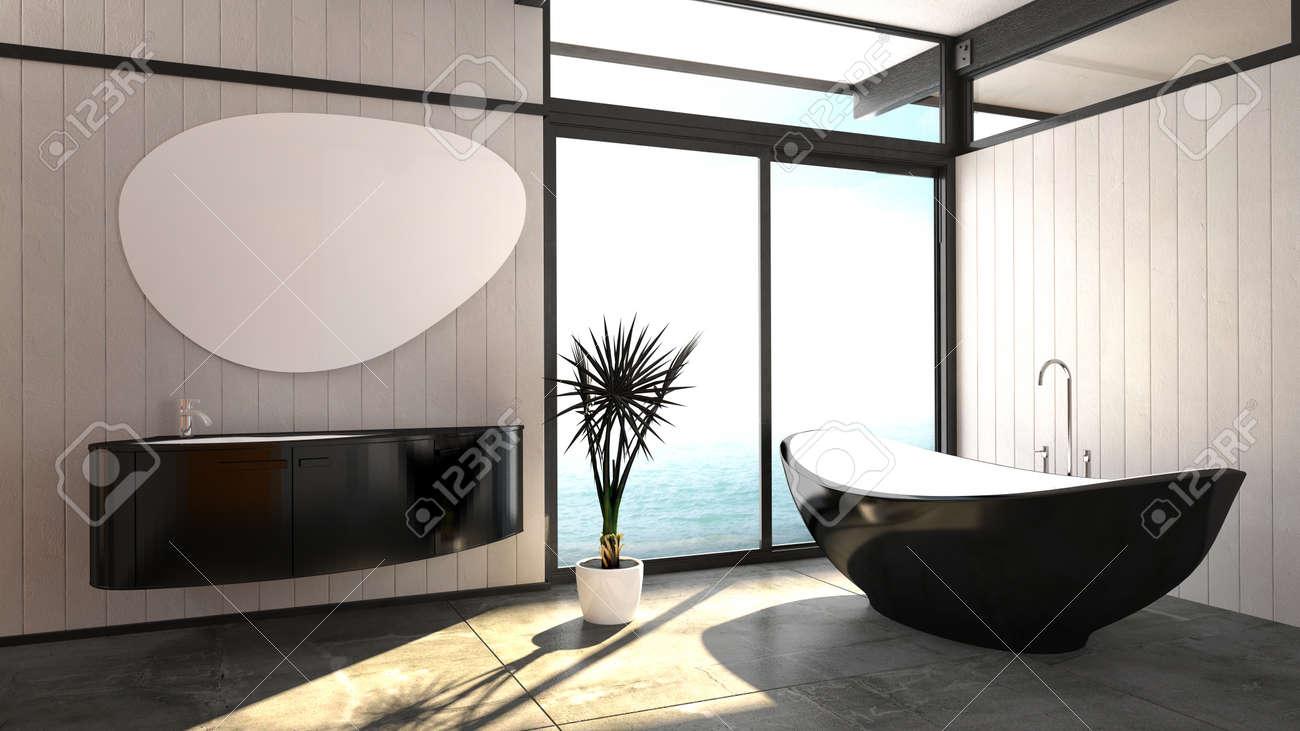 Baignoire Moderne Et élégant Noir Permanent En Forme De Bateau ...