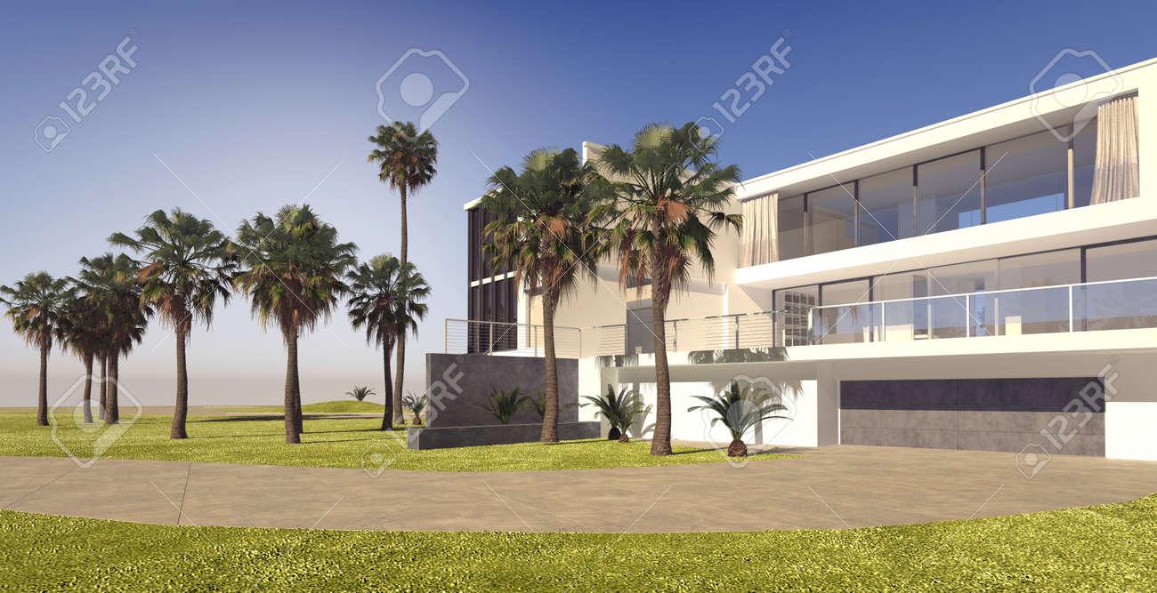Grande Maison Moderne De Plusieurs étages Sur Une Propriété De Luxe ...